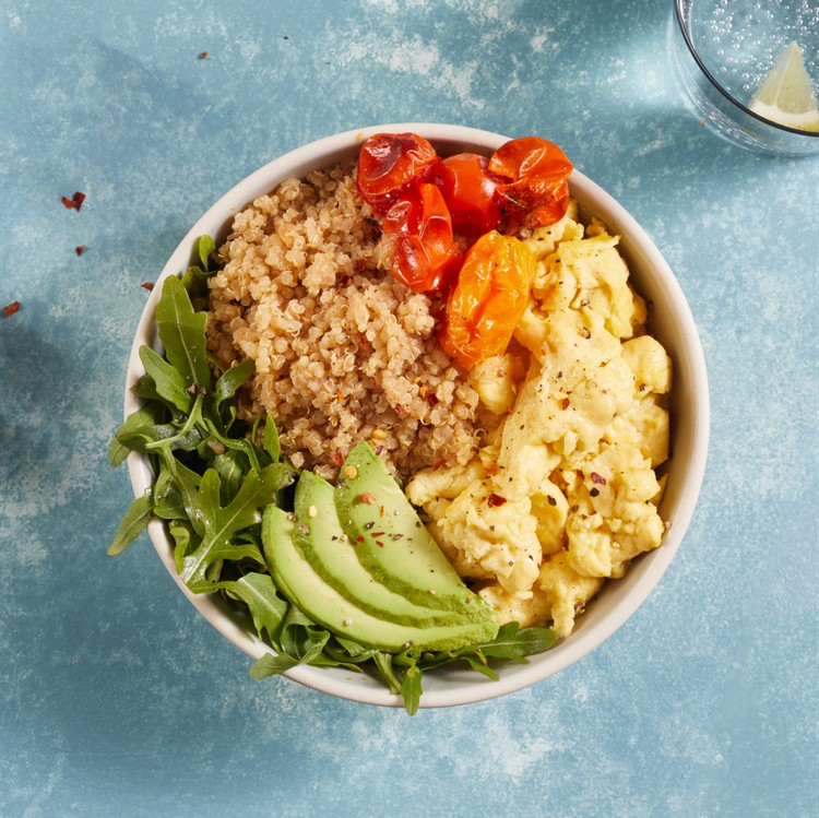 Quinoa bowl with vegetables