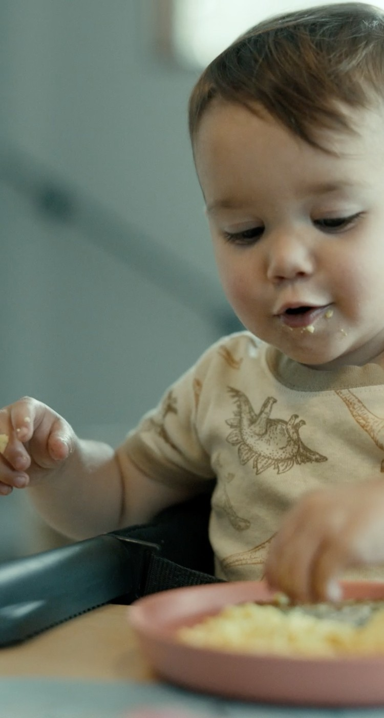 baby eating just egg
