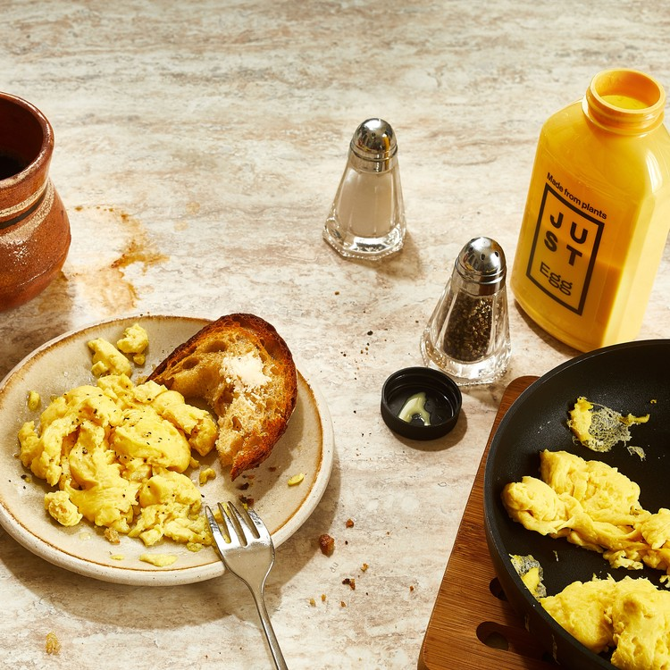 just egg breakfast spread with coffee